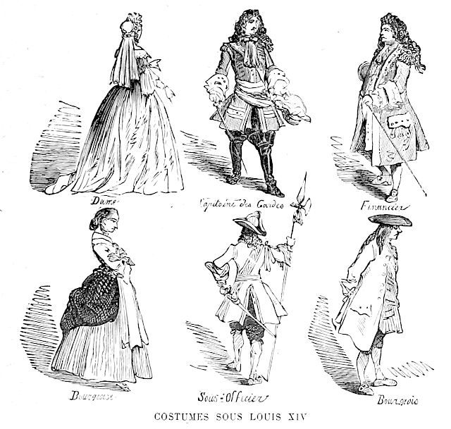 Clothing during the reign of King Louis XIV