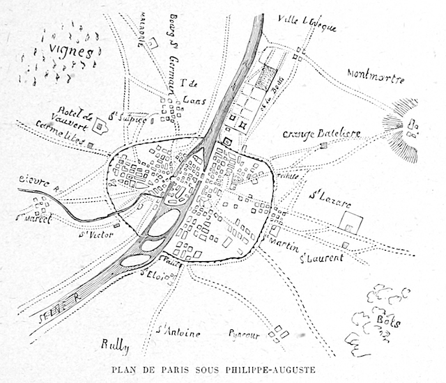 Earlier map of Paris