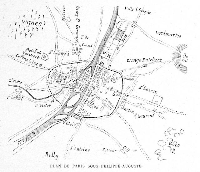 Earlier map of Paris