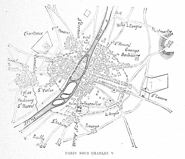 Later map of Paris